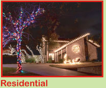 Residential Christmas Light Services in Austin